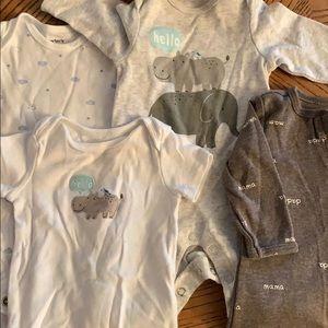 Unisex PJs and onesie set